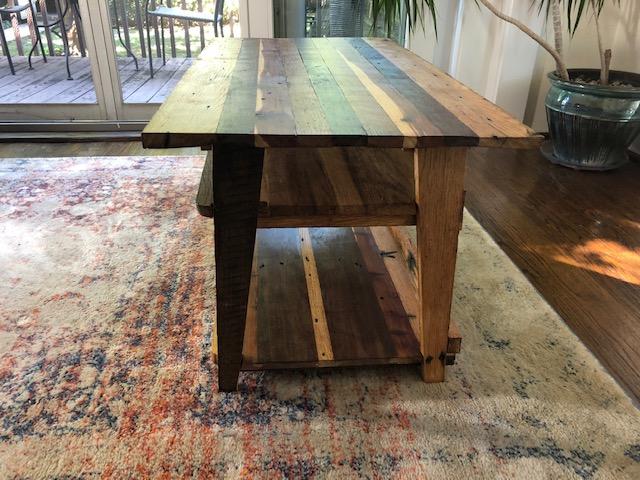 End View 2-Shelf Table
