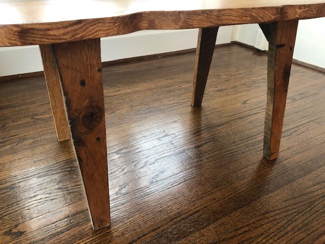 Natural oak coffee table